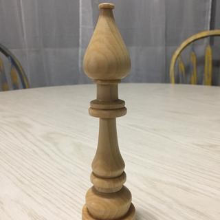 First thing I turned, bishop chess piece, out of poplar.
