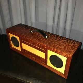 """3/4"""" Sapele pomelle and 1/4"""" plywood, finished with tung oil and polyurethane"""
