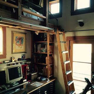 Art studio loft ladder