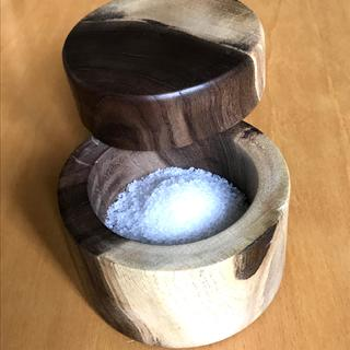 Salt Cellar with Pivoting Lid