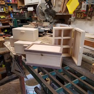 Boxes built for chip carver in Virginia.