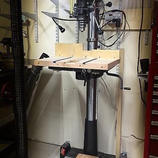 Base with 300lb Drill Press