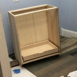 Going to add maple plywood doors with Euro  hinges