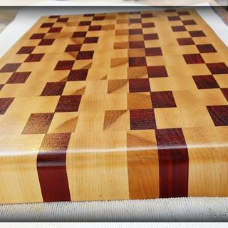 "Used 3/4"" Paduak & Maple to create this end-grain cutting board !!"