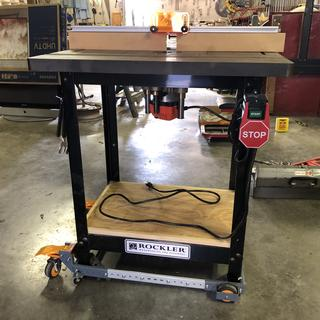 Bench Dog Router table on Rockler stand...now roll-able