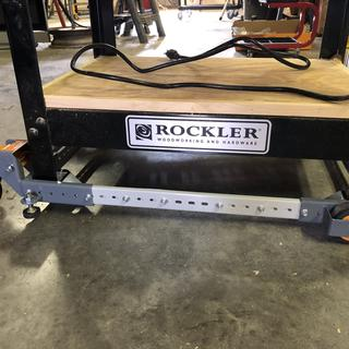Bench Dog Router table on Rockler stand ...when stationary, it hardly raises the router table any.