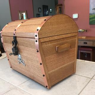 Treasure chest with copper straps