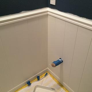 Mdf wainscoting.
