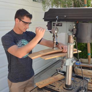 Grandson using Rockler Forstner bit.