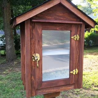 I used these on a Little Free Library. I love the look of them and they work very well.