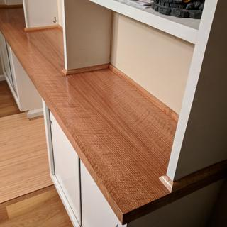 Used it to replace old Formica veneer on some built-in shelves.  Very pleased with the results.