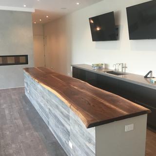 22' long Black Walnut Bar