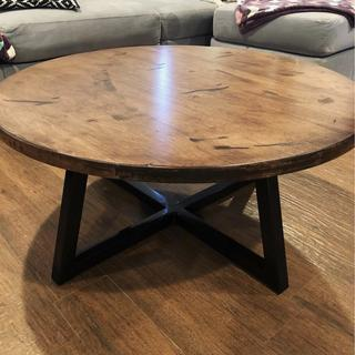 """1 1/2"""" hard maple, 36"""" round with a 1 1/2"""" steel tube base."""