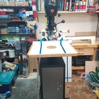 It needed a table for wood projects