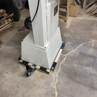 I purchased this mobile base for use with a Jet 14FSX bandsaw and it has worked very well.