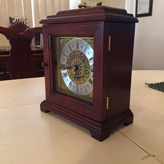 Bracket clock finished in Georgian Cherry and sealed with General Finished oil eurathane
