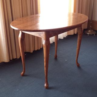 Used queen Ann legs for oval oak table for local funeral home. Don Sanders