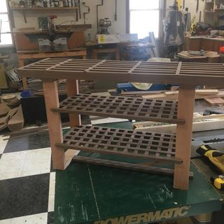 Love the lap jig...designed this shoe bench for our mud room.