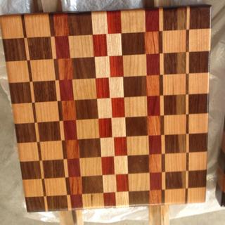 Exotic wood used for the accent pieces along with walnut and cherry