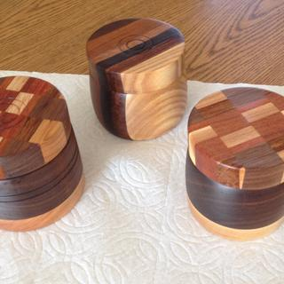 Salt bowls with rockler  roto hinges for a 360 degree swivel