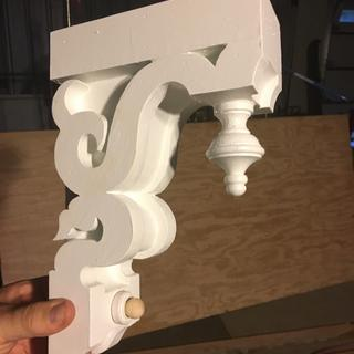 Finials worked well on my corbels.