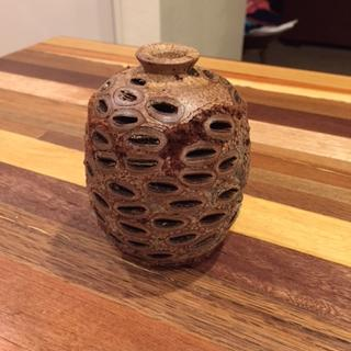 Banksia Nut Turned Pot