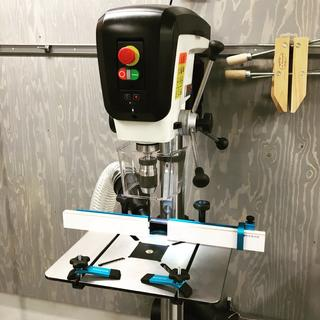 Rockler Drill Press Fence mounted on JET JDP-17