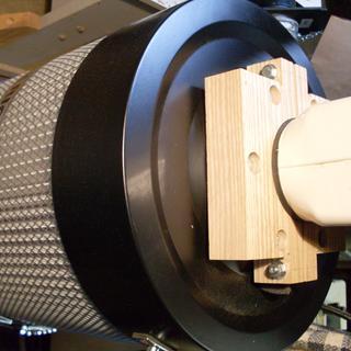 Detail of wooden split flange.