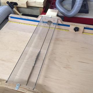 Table Saw Sled Flush fit with routered channel.