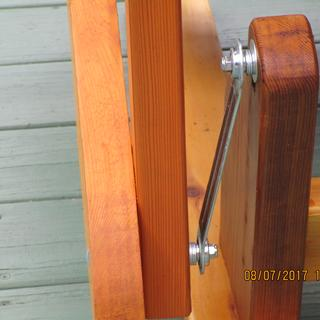 Close up of glider brackets