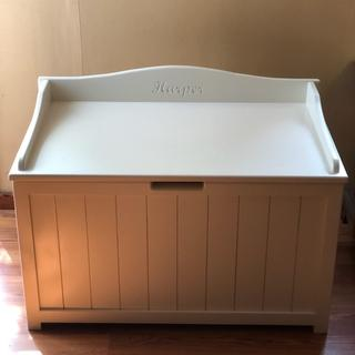 Toy box no worry about lid falling on little fingers