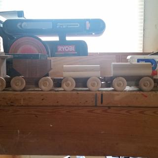 The train I made with Harwood Assortment, minus the wheels and dowel rods