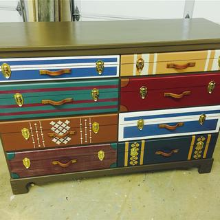 8-drawer luggage chest