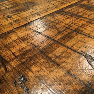 Waterlox on reclaimed 1920's boxcar maple floor planks