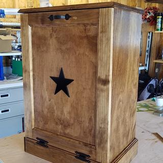 First trash can cabinet