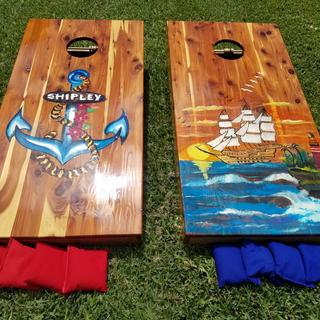 Corn Hole Set - made for my Daughter's Wedding.  Used Porter Biscuit Joiner.