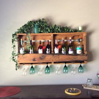 Our new wine rack.... Beautiful. Husband did a fabulous job.