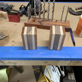 Just glued up some simple blanks from scrap wood.