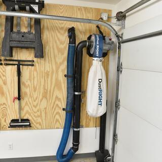"""hose docking station. 4"""" ABS pipe extension so I get maximum hose length."""