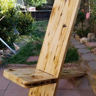 Viking stargazer chair from repurposed lumber