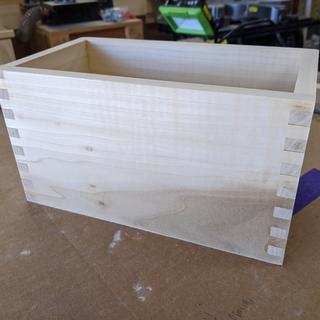 First attempt at making box joints