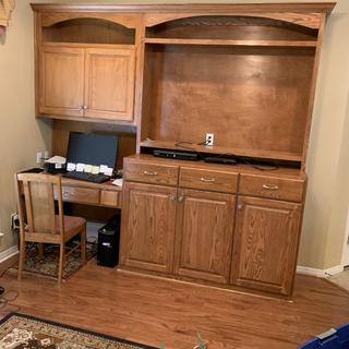 Gave me  Beautiful doors on this entertainment center