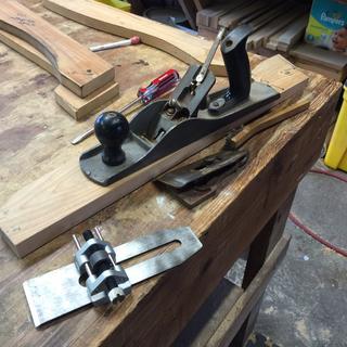 Doing a little tool maintenance.
