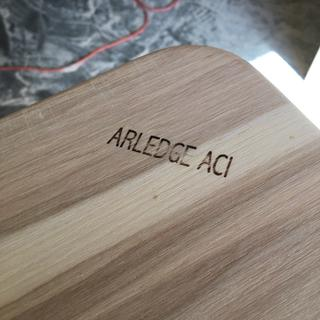 Branding iron with the all caps design