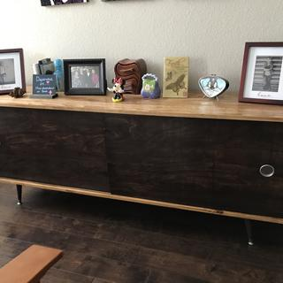Credenza finished in Nutmeg and Java General Finishes Gel Stain.