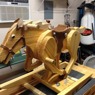 Rocking horse for grandson.