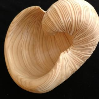Nautilus shell made from pine 2x4