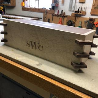 Box with splines inserted