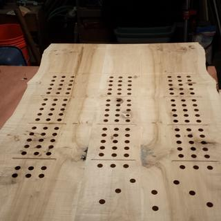 10 foot cribbage board in two sections.