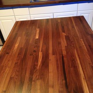 "1 1/2"" solid walnut butcher block"
